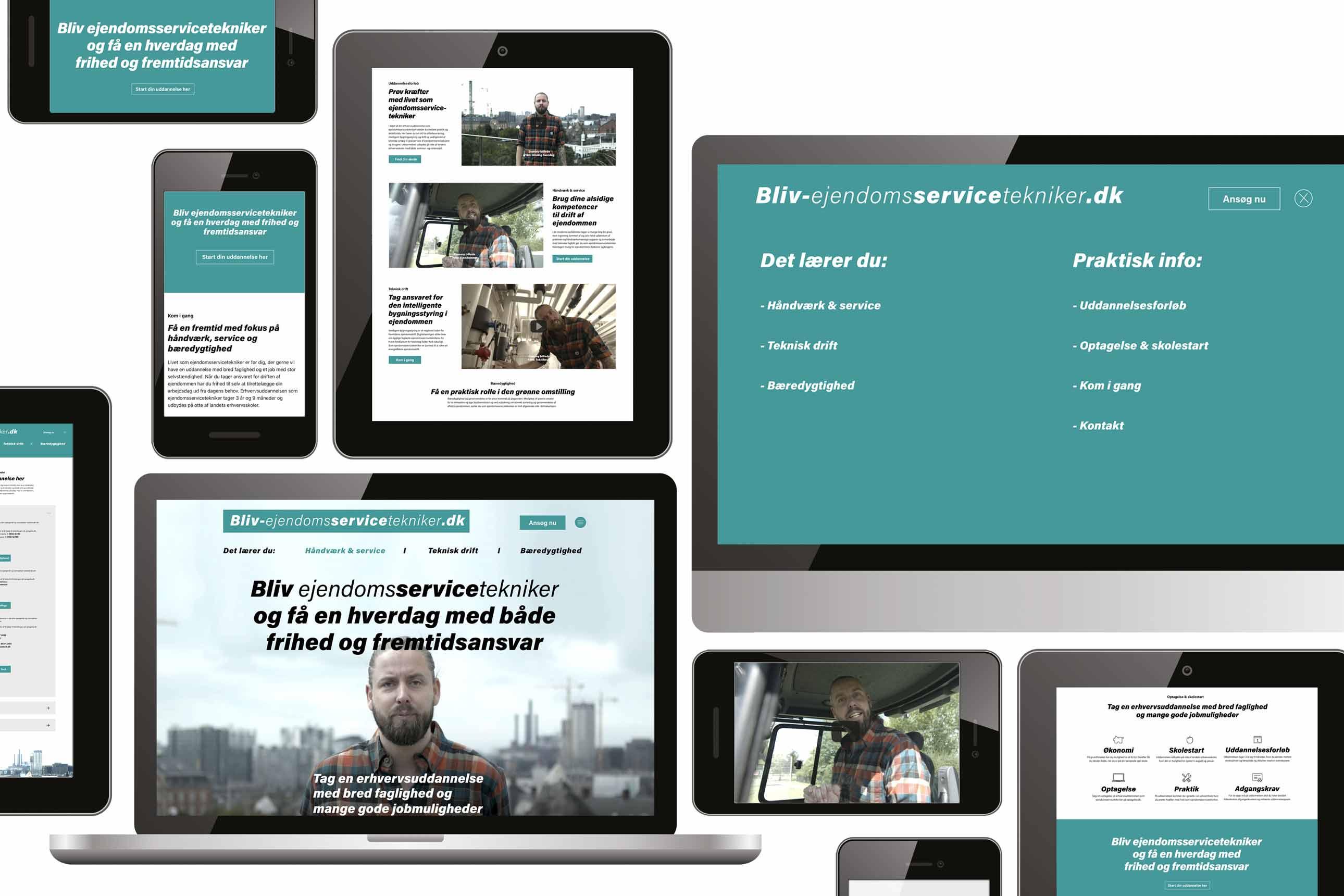 Bliv-ejendomsservicetekniker.dk website.