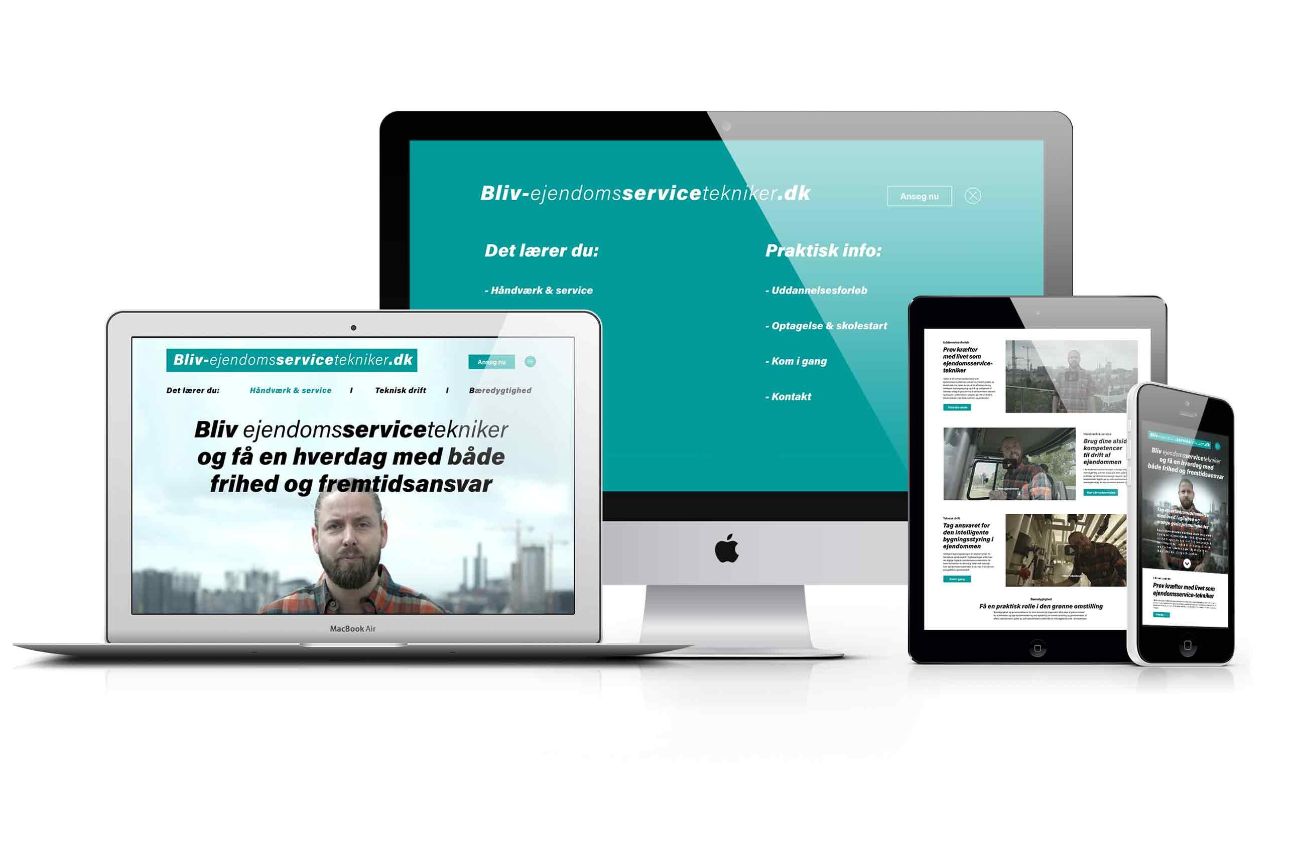 Bliv-ejendomsservicetekniker.dk website i responsivt design.
