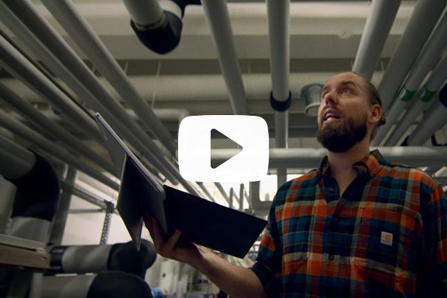 Kampagnefilm om teknisk drift i jobbet som ejendomsservicetekniker.