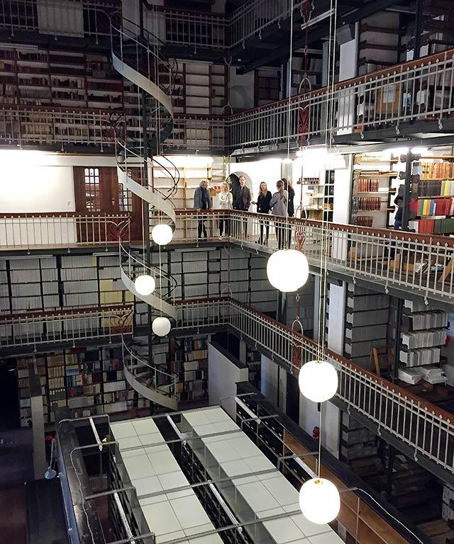 Essens fik en særlig omvisning i Det Kongelige Bibliotek
