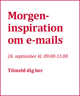 Seminar: Morgeninspiration om e-mails d. 24. september 2020