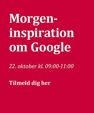 Seminar: Morgeninspiration om Google d. 22. oktober 2020