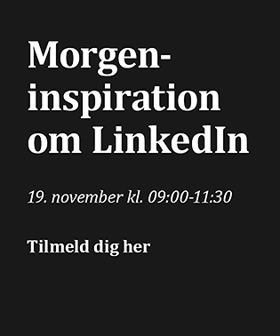 Seminar: Morgeninspiration om LinkedIn d. 19. november 2020