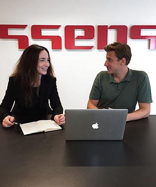 Mette Nissen Pedersen og Jakob Sargin fra Essens Kommunikation